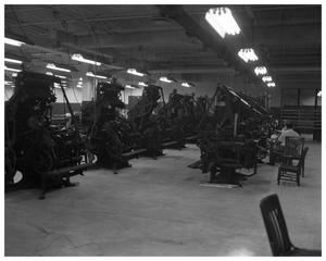 Primary view of object titled '[American-Statesman typesetting machines]'.