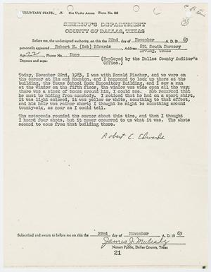 Primary view of object titled '[Voluntary Statement by Robert E. Edwards #2]'.