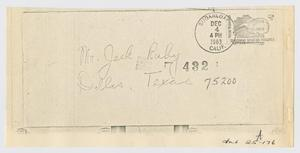 Primary view of object titled '[Letters Sent to Jack Ruby After Arrest]'.