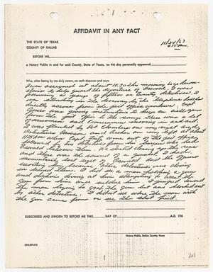 Primary view of object titled '[Affidavit in Any Fact by C. A. Greeson #2]'.