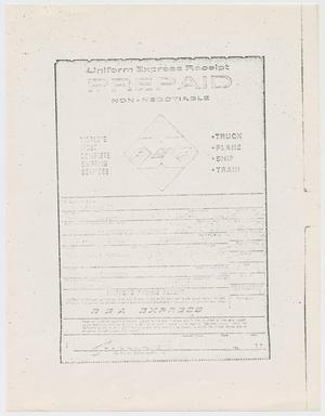 Primary view of object titled '[Receipt for sending the clothes of Lee Harvey Oswald to the National Archives #1]'.