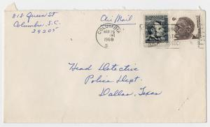 Primary view of object titled '[Letter from Velma Aitken to Dallas Police Department, March 24, 1968]'.