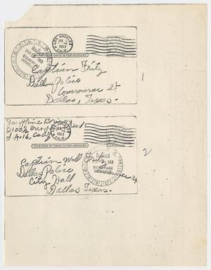 Primary view of object titled '[Envelopes by Josephine Briggs #3]'.