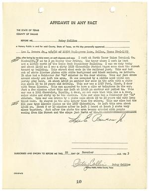 Primary view of object titled '[Affidavit In Any Fact by Lee E. Bowers]'.