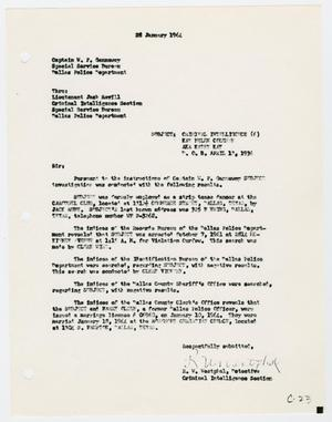 Primary view of object titled '[Report to W. P. Gannaway by R. W. Westphal, January 28, 1964 #2]'.