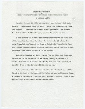 Primary view of object titled '[Additional Report by Marvin Johnson on Officer's Duties #3]'.