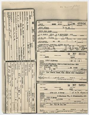 Primary view of object titled '[Arrest Records of Jack Ruby]'.
