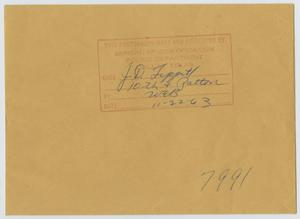 Primary view of object titled '[Envelope from J. D. Tippit Case]'.