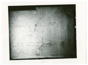 Primary view of object titled '[Map of the Dallas City Hall Basement]'.