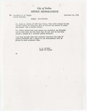 [Personnel File of J. D. Tippit]