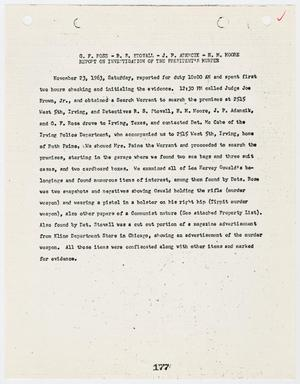 Primary view of object titled '[Report on Officer's Duties and request for search warrant, by G. F. Rose #2]'.