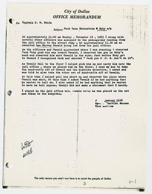 Primary view of object titled '[Memo to J. W. Fritz from B. J. Combest, November 23, 1963 #3]'.