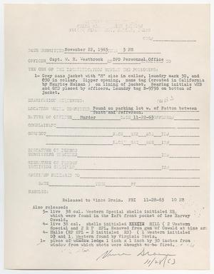 Primary view of object titled '[Crime Scene Section Form by W. R. Westbook]'.