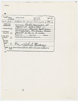 [Cards Used in Prison for Jack Ruby]