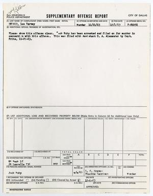 Primary view of object titled '[Supplementary Offense report by E. R. Beck]'.