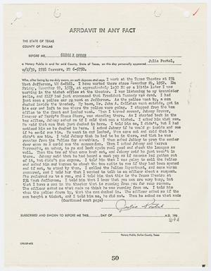 Primary view of object titled '[Affidavit In Any Fact by Julia Postal #2]'.