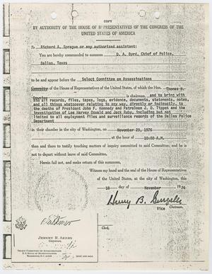 Primary view of object titled '[Subpoena for D. A. Byrd #3]'.