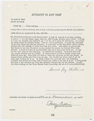 Primary view of object titled '[Affidavit In Any Fact by Bonnie Ray Williams #3]'.
