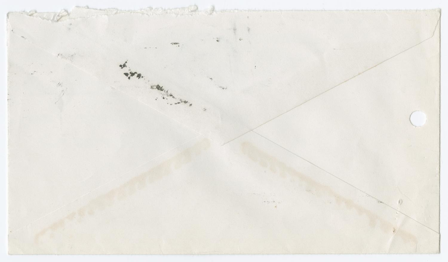 [Envelope from Sandra Saulsbery to Division of Investigation]                                                                                                      [Sequence #]: 2 of 2