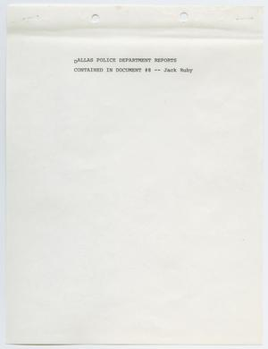 Primary view of object titled '[Criminal Record of Jack Ruby]'.