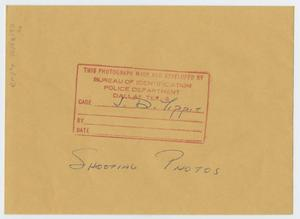 Primary view of object titled '[Envelope for Shooting Photos]'.