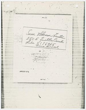 Primary view of object titled '[Address of Sam Bloom]'.