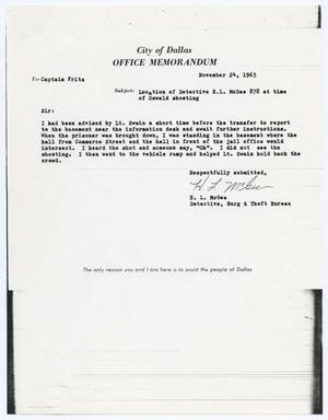 Primary view of object titled '[Memorandum by H. L. McGee concerning officer's assignments #1]'.