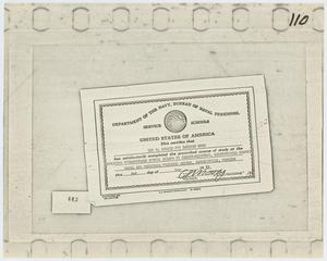 [Certificate from Bureau of Navy Personnel]