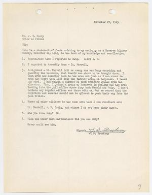 Primary view of object titled '[Report regarding the murder of Lee Harvey Oswald]'.