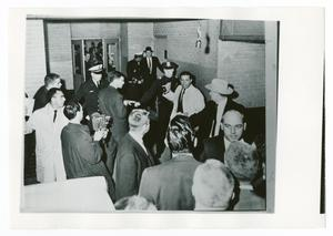 Primary view of object titled '[Doctors, Police, and Press]'.