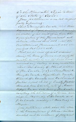 1857 Petition by Heirs