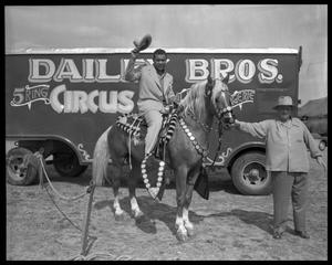Primary view of object titled 'Joe Louis at circus - animal acts, etc'.