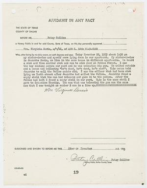 Primary view of object titled '[Affidavit by Virginia Davis #2]'.