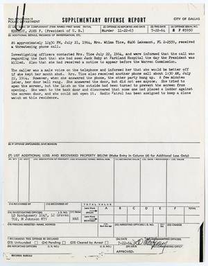 Primary view of object titled '[Supplementary Offense Report by L. D. Montgomery #2]'.