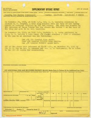 Primary view of object titled '[Supplementary Offense Report concerning Jack Ruby's gun and bullets]'.