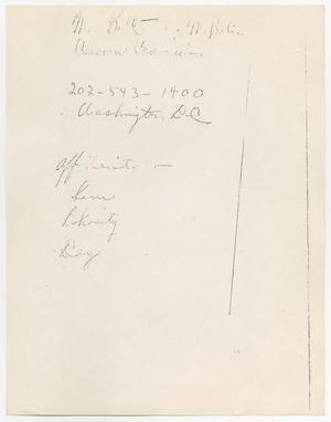 Primary view of object titled '[Photocopy of a handwritten note by an unknown author]'.