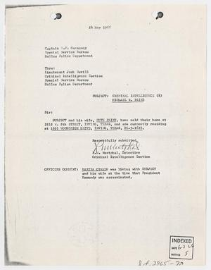 Primary view of object titled '[Report to W. P. Gannaway by R. W. Westphal, May 24, 1966 #1]'.