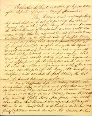 Petition by Lorenzo de Zavala Jr. January 15th 1841