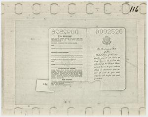 Primary view of object titled '[Lee Harvey Oswald's Passport]'.