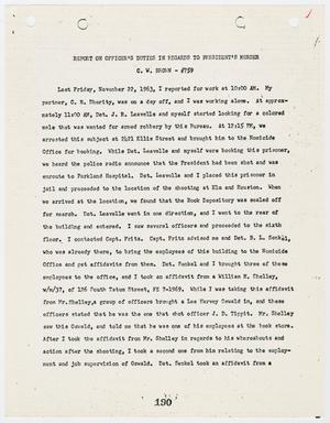 Primary view of object titled '[Report on Officer's Duties by C. W. Brown, in regards to the President's murder #2]'.
