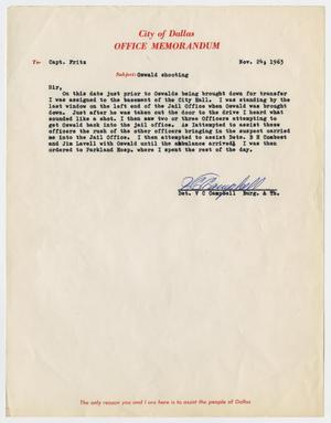 Primary view of object titled '[Memorandum by V. C. Campbell concerning officer's assignments #2]'.