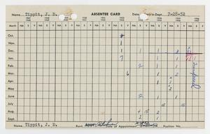 Primary view of object titled '[Absentee and Time Cards for J. D. Tippit]'.