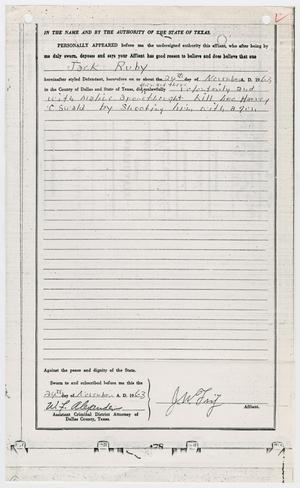 Primary view of object titled '[Affidavit General by J. W. Fritz, Charging Jack Ruby with Murder #2]'.