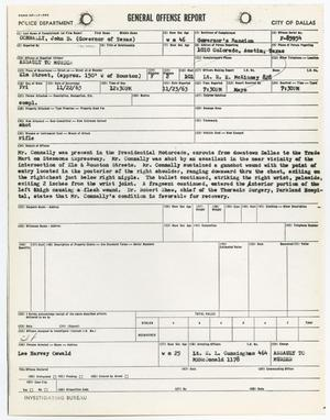 Primary view of object titled '[General Offense Report by E. L. Cunningham]'.