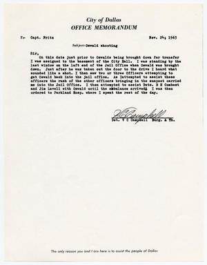Primary view of object titled '[Memorandum by V. C. Campbell concerning officer's assignments #1]'.
