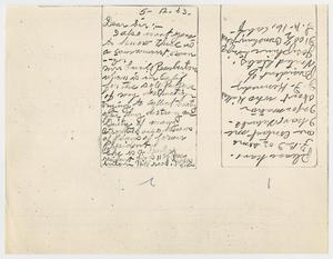 Primary view of object titled '[Letter from Josephine Briggs to Captain Will Fritz, May 12, 1963 #3]'.