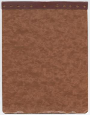 Primary view of object titled '[Back Cover to Bound Notebook]'.