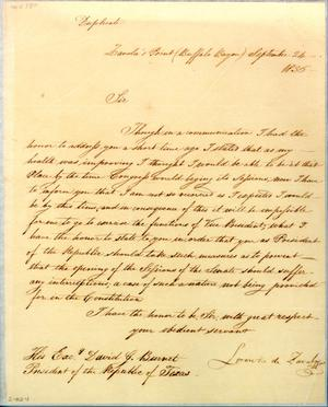 Primary view of object titled '[Letter from Zavala to Burnet] September 24th 1836'.
