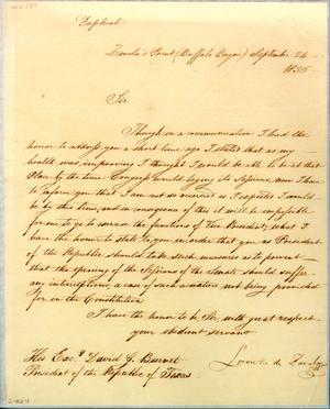 [Letter from Zavala to Burnet] September 24th 1836