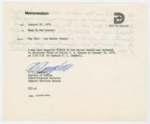 Primary view of object titled '[Memo by V. C. Campbell, January 24, 1978]'.